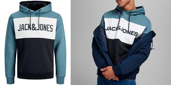 Sudadera Jack & Jones Logo Color Block con capucha para hombre barata