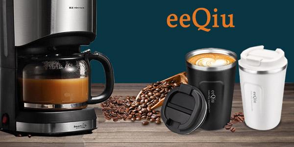 Taza de café para llevar eeQiu barata en Amazon