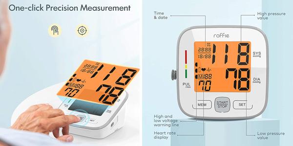 Tensiómetro digital de brazo Roffie oferta en Amazon
