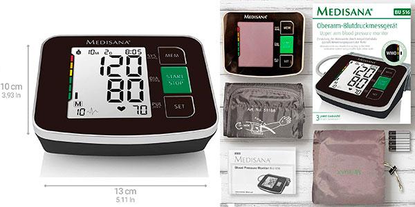 Tensiómetro de brazo Medisana BU516 con detección de arritmias en oferta