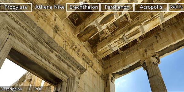 tour virtual por la Acrópolis griega de Atenas