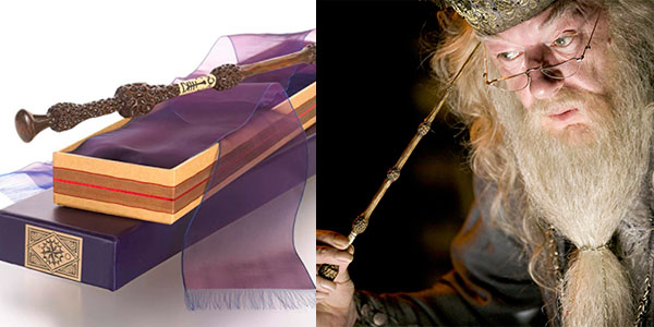 Varita mágica de Dumbledore con caja de Ollivanders barata