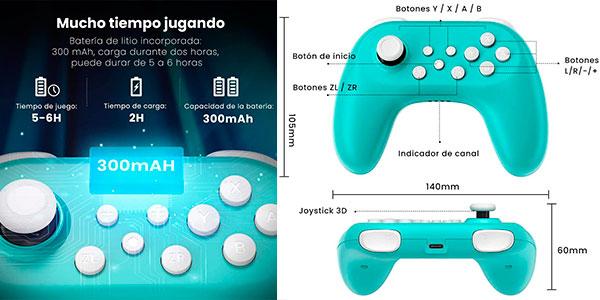 Pack de 2 mandos Bluetooth para Switch barato