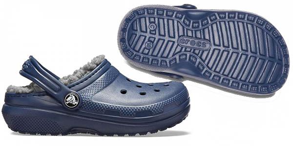 zuecos infantiles de invierno Crocs Classic Lined Clog K oferta