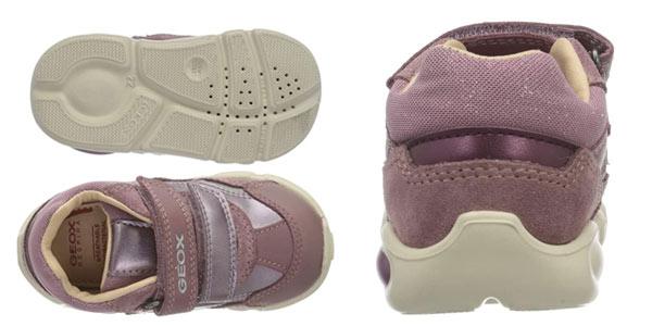 Zapatillas para bebé primeros pasos Geox B Pillow Girl A en oferta en Amazon