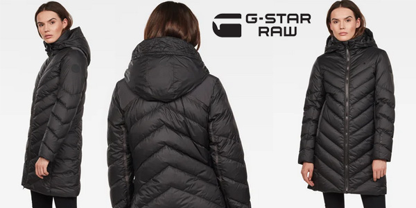 Abrigo largo G-STAR RAW Whistler Slim Down Hooded para mujer barato en Amazon