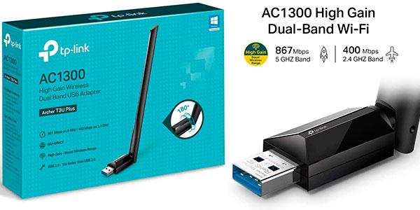 Adaptador Wi-Fi dual TP-Link Archer T3U Plus AC1300 barato
