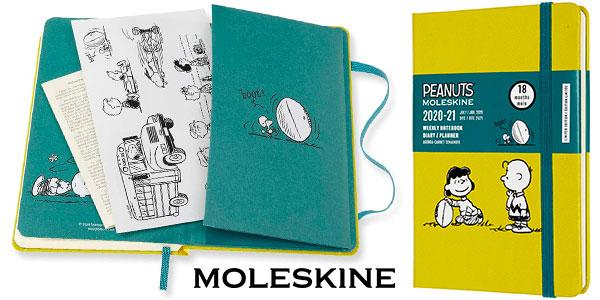 Chollo Agenda semanal 2021 Moleskine Snoopy de bolsillo con tapa dura