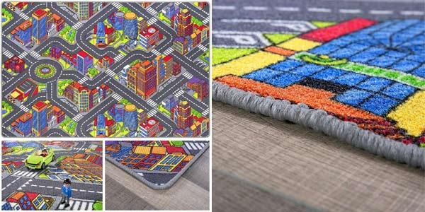 Alfombra infantil Game City con carretera para juegos oferta en Amazon