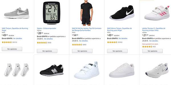 Amazon productos deportivos en promoción