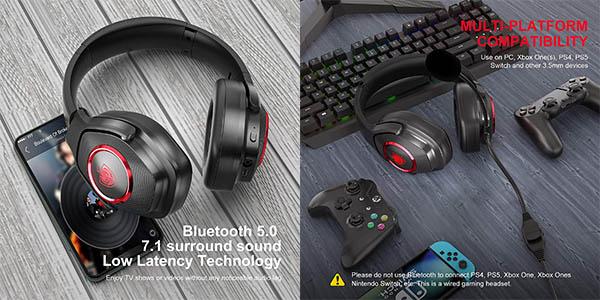 Auriculares gaming con micro
