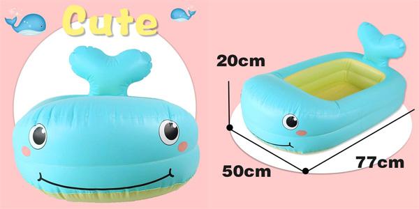 Bañera Hinchable y Plegable con forma de Ballena y Sensor de Temperatura para bebé Jerryvon oferta en Amazon