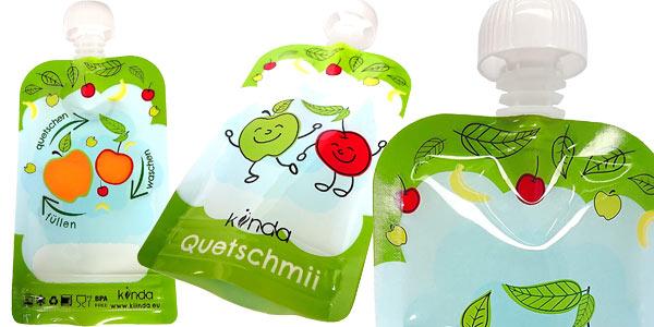 Pack x6 Bolsas de comida para bebés reutilizables de 100 ml/ud chollo en Amazon