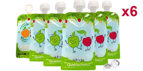 Pack x6 Bolsas de comida para bebés reutilizables de 100 ml/ud baratas en Amazon