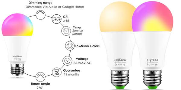 Bombilla LED WiFi Flyidea E27 de 15W en AliExpress