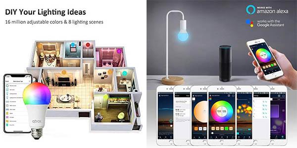 bombillas LED Qbox regulables con app móvil oferta