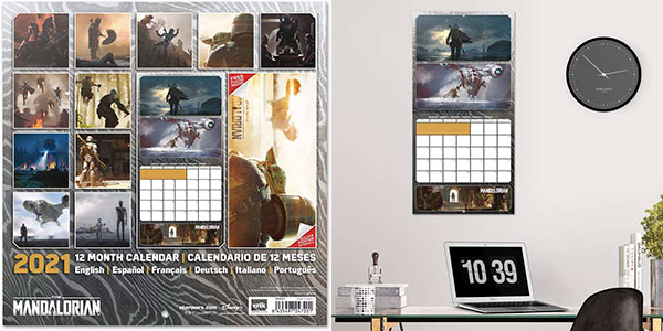Calendario 2021 The Mandalorian (Star Wars) barato