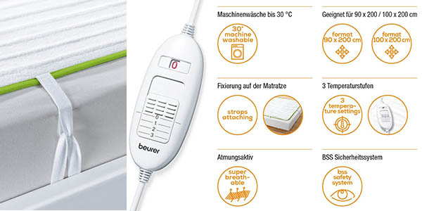 calientacamas eléctrico Beurer TS15 oferta