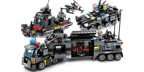 Set Camión de Policía y vehículos SWAT estilo LEGO