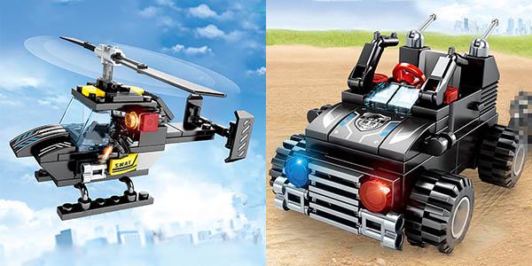 Set Camión de Policía y vehículos SWAT estilo LEGO en AliExpress