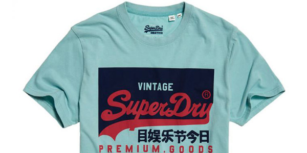 Camiseta Superdry VL O para hombre chollo en Amazon