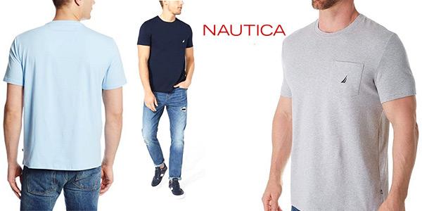Camiseta de manga corta Nautica para hombre en varios colores barata en Amazon