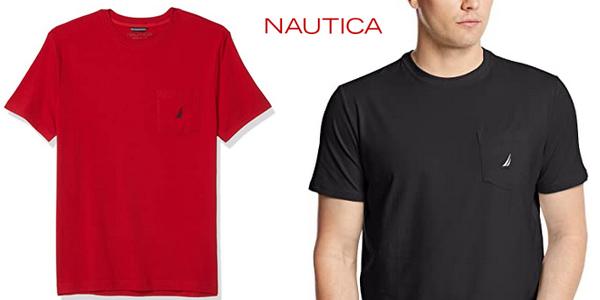 Camiseta de manga corta Nautica para hombre en varios colores chollo en Amazon