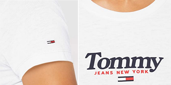 Camiseta de manga corta Tommy Hilfiger Tjw Essential Logo para mujer chollo en Amazon