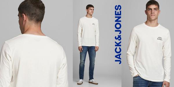 Camiseta de manga larga Jack & Jones Jjhero tee para hombre barata en Amazon