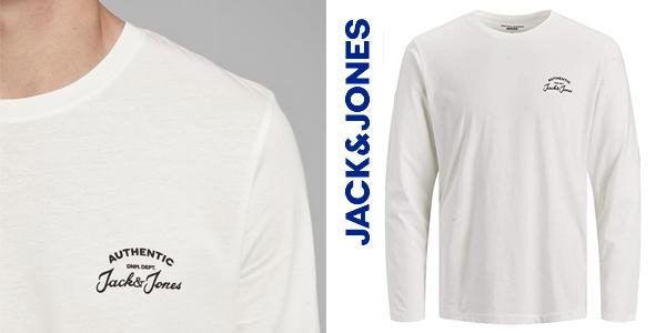 Camiseta de manga larga Jack & Jones Jjhero tee para hombre chollo en Amazon