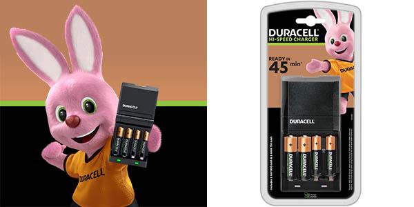 Cargador de pilas Duracell rápido con 2 AA + 2 AAA