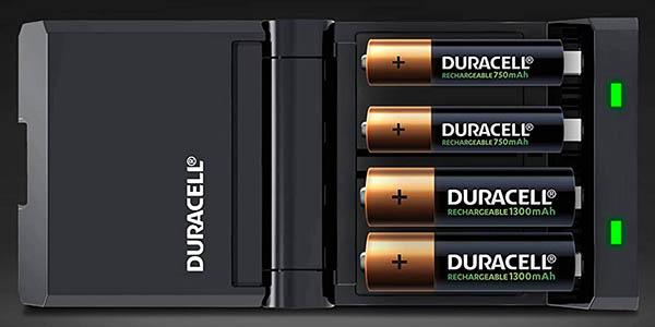 Cargador de pilas Duracell rápido con 2 AA + 2 AAA barato