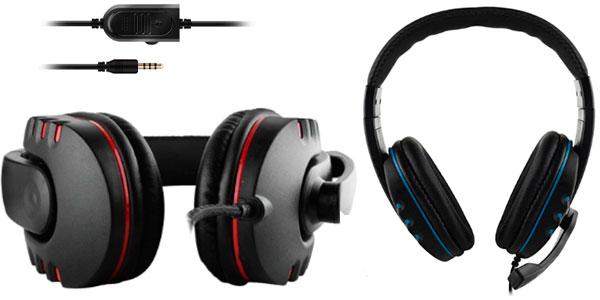 Auriculares gaming con micro para PS4, PS5, PC, Xbox y Nintendo Switch baratos