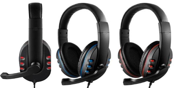 Auriculares gaming con micro para PS4, PS5, PC, Xbox y Nintendo Switch