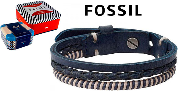 Chollo Pulsera Fossil con acero inoxidable para hombre