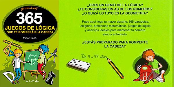"""Chollo Libro """"365 juegos de lógica que te romperán la cabeza"""""""