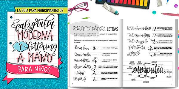 """Chollo Libro """"La guía para principiantes de caligrafía moderna y lettering a mano para niños"""""""