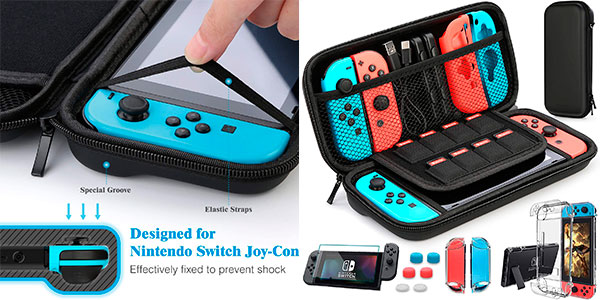 Chollo Pack funda Nintendo Switch + accesorios