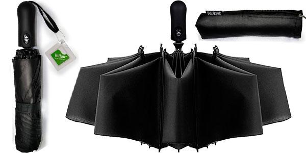 Chollo Paraguas Vanquisher invertido plegable con teflón y protección UV