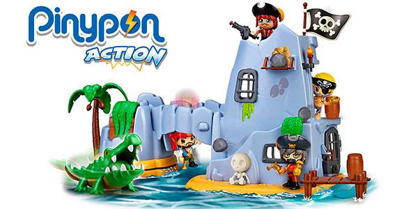Chollo Set Isla Pirata del Capitán Caimán de Pinypon Action con 2 figuras