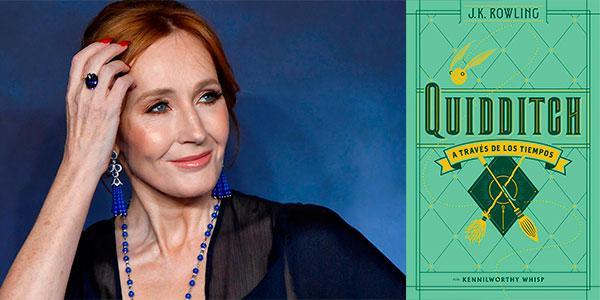 """Libro """"Quidditch a través de los tiempos"""" en tapa dura de J.K. Rowling"""