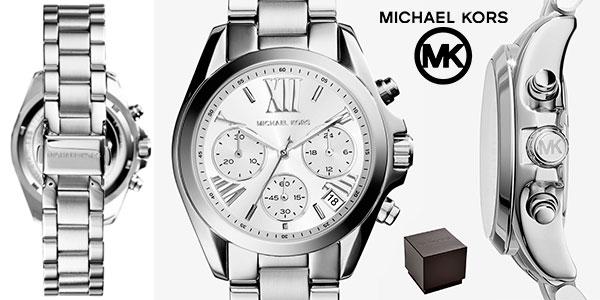 Chollo Reloj cronógrafo Michael Kors Bradshaw plateado para mujer