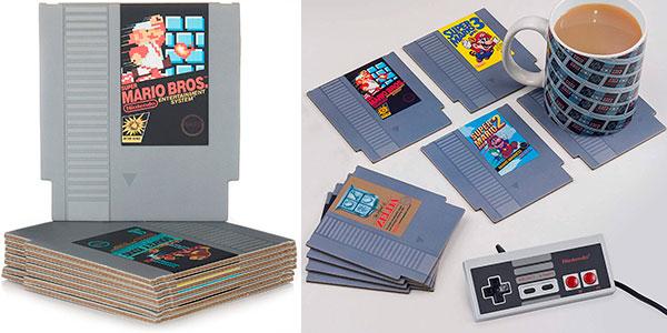 Chollo Set 8 posavasos con diseño de cartucho de NES