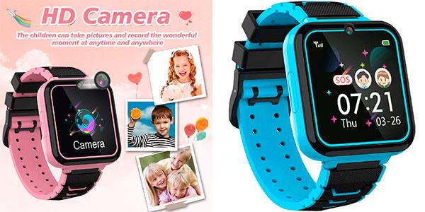Chollo Smartwatch infantil MeritSoar Tech + tarjeta Micro SD 1 GB