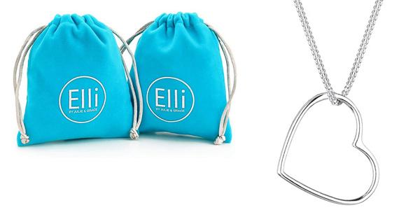Elli Collares Colgante Corazón en plata de ley 925 barato en Amazon