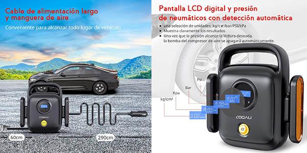 Cooau compresor aire ruedas coche luz emergencia chollo