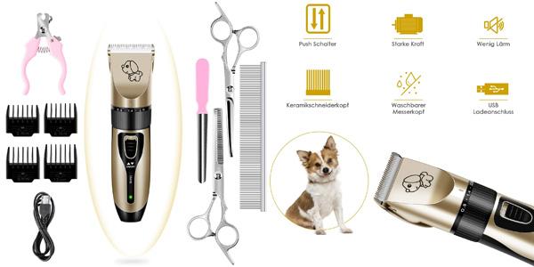 Cortapelos para mascotas Pedy con batería de litio y 3 velocidades barato en Amazon