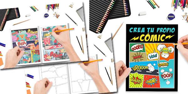 crea tu propio cómic 100 originales plantillas libro dibujo chollo
