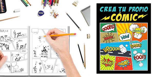Crea tu propio cómic 100 originales plantillas libro oferta
