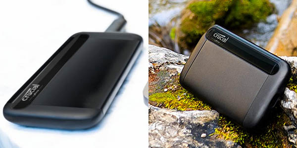 Disco SSD portátil Crucial CT X8 de 2 TB en Amazon